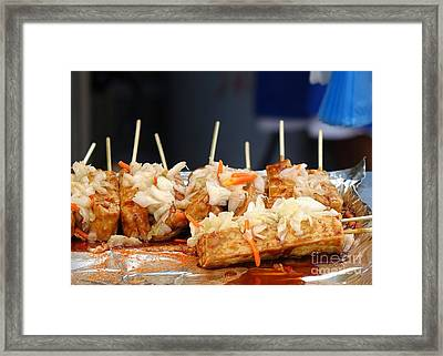 Smelly Fermented Tofu With Pickled Cabbage Framed Print
