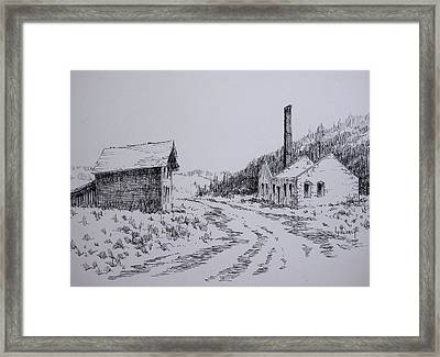 Smelter Ruins Glendale Ghost Town Montana Framed Print by Kevin Heaney