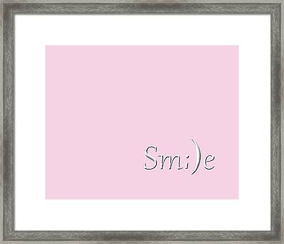 Smile Framed Print by Cherie Duran
