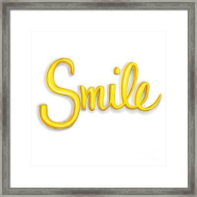 Smile Framed Print by Cindy Garber Iverson