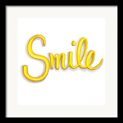 Smile Drawings Framed Prints
