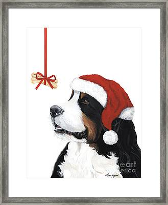 Smile Its Christmas Framed Print