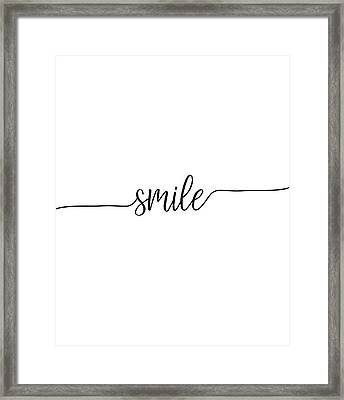 Framed Print featuring the digital art Smile by Jaime Friedman