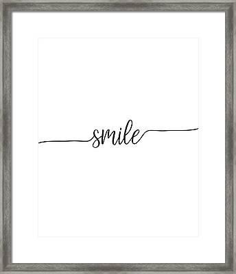Smile Framed Print by Jaime Friedman