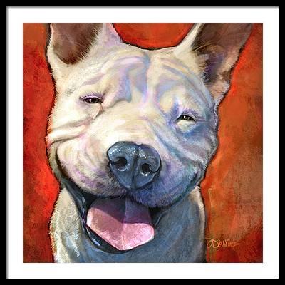 Bull Dog Framed Prints