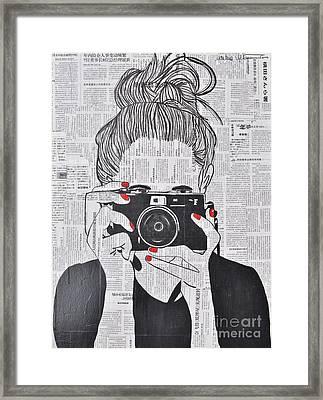 Smile Twice Framed Print