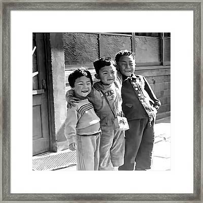 Smiles From Korea Year 1955 Framed Print