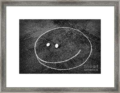Framed Print featuring the photograph Smiley - Chalk N Eggs by Aimelle
