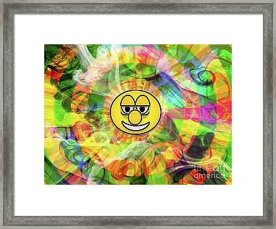 Smiley Framed Print by Jason Whitehead