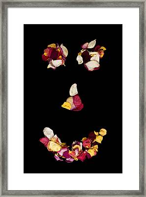 Smiley Rose Framed Print
