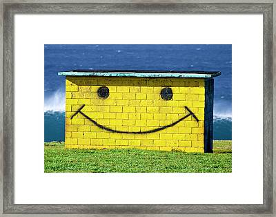 Smiley Shed Framed Print by Sean Davey