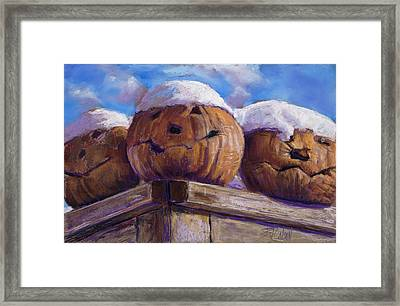 Framed Print featuring the pastel Smilin Jacks by Billie Colson