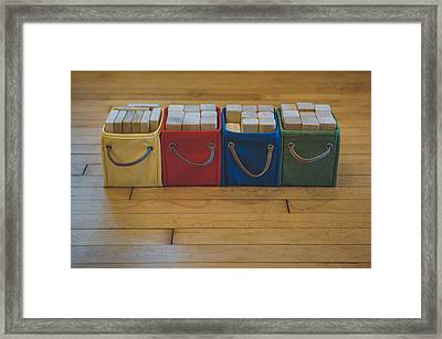 Smiling Block Bins Framed Print by Scott Norris