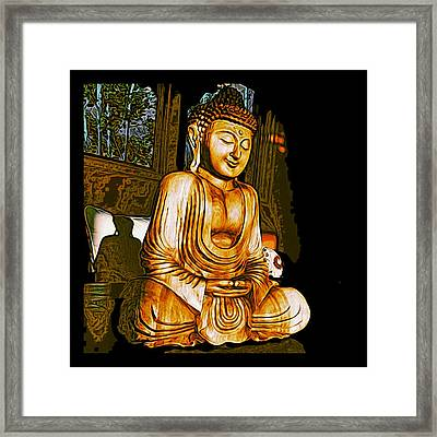 Framed Print featuring the photograph Smiling Buddha by Paul Cutright