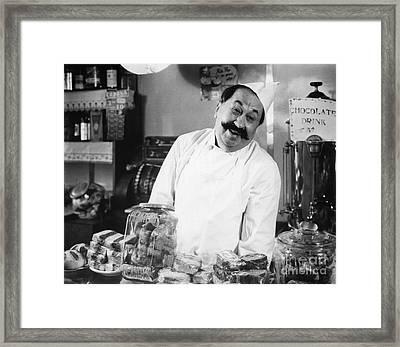 Smiling Chef At Diner, C.1930s Framed Print