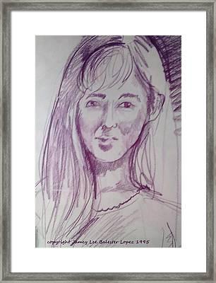 Smiling Eyes Framed Print by Jamey Balester