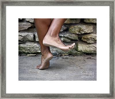 Smiling Feet Framed Print
