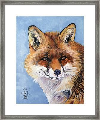Smiling Fox Framed Print