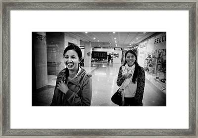 Smiling Girls Brighten My Day Framed Print