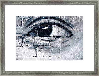 Framed Print featuring the painting Smiling Graffiti Eye by Yurix Sardinelly