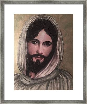 Smiling Jesus Framed Print by Cena Caterine