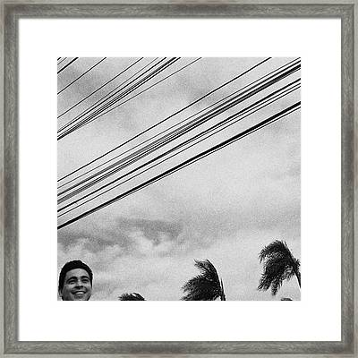 Smiling Palm Tree  #head #portrait Framed Print