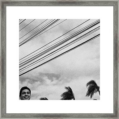 Smiling Palm Tree  #head #portrait Framed Print by Rafa Rivas