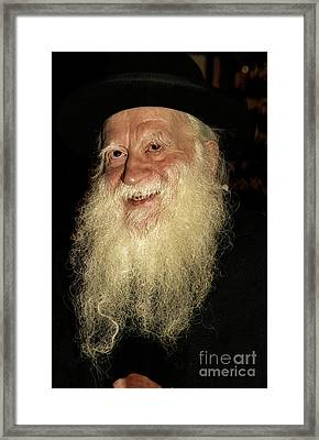 Smiling Picture Of Rabbi Yehuda Zev Segal Framed Print