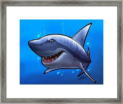 Smiling Shark Framed Print by Tim Michael Ufferman