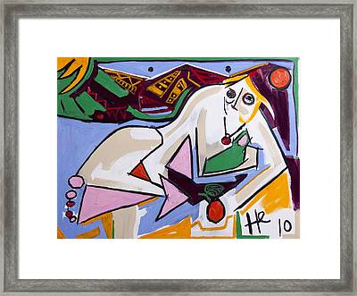 Smirking Eve 30x40 Framed Print