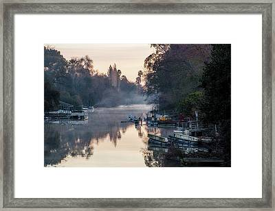 Smith Canal In Winter Framed Print