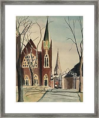 Smith College Grecourt Gates Framed Print by Jeri Borst