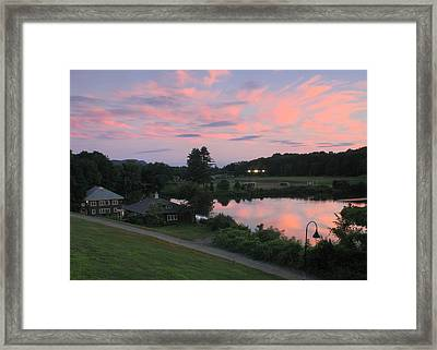 Smith College Paradise Pond Sunset Framed Print by John Burk