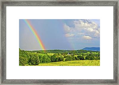 Smith Mountain Lake Rainbow Framed Print