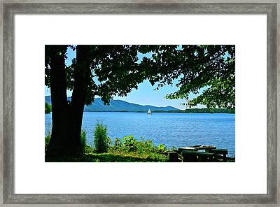 Smith Mountain Lake Sailor Framed Print by The American Shutterbug Society
