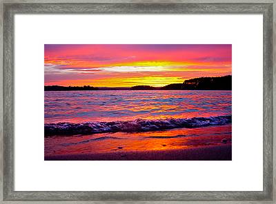 Smith Mountain Lake Surreal Sunset Framed Print