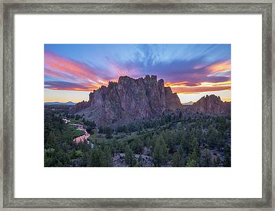 Framed Print featuring the photograph Smith On Fire by Patricia Davidson