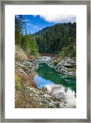 Smith River Tranquility Framed Print by Greg Nyquist