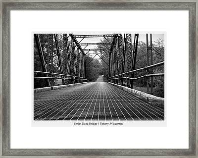 Framed Print featuring the photograph Smith Road Bridge  by Viviana  Nadowski