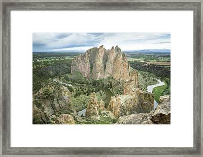 Smith Rock From Misery Ridge Framed Print