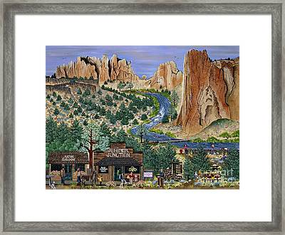 Framed Print featuring the painting Smith Rock State Park by Jennifer Lake