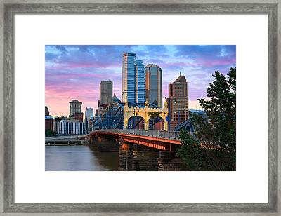 Smithfield Street Bridge Framed Print by Emmanuel Panagiotakis