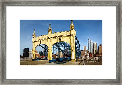 Smithfield Street Bridge Pittsburgh Pennsylvania Framed Print