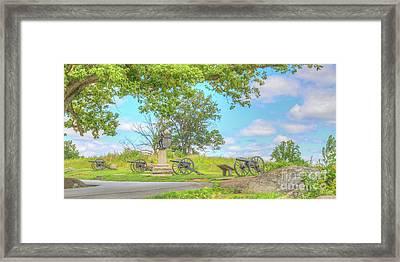 Smiths Battery Devils Den Gettysburg Framed Print