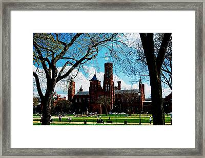 Smithsonian In The Spring Framed Print