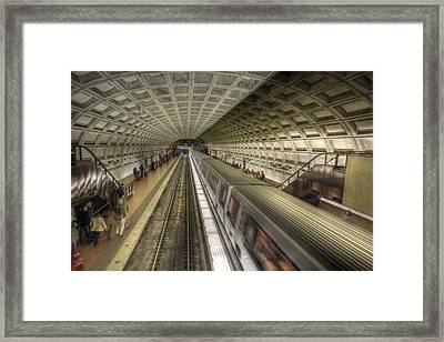 Smithsonian Metro Station Framed Print