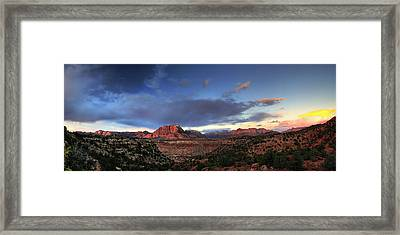 Smithsonian View Of Zion Framed Print