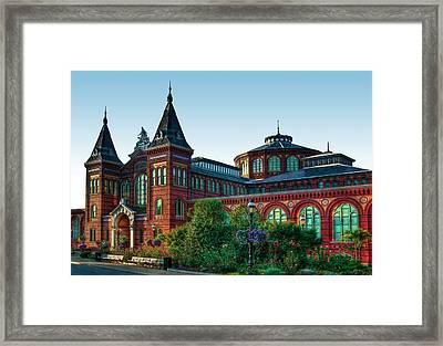 Smithsonian's Arts And Industries Building Framed Print by Don Lovett