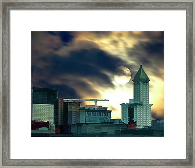 Framed Print featuring the photograph Smithtower Moon by Dale Stillman