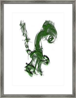 Smoke 01 - Green Framed Print
